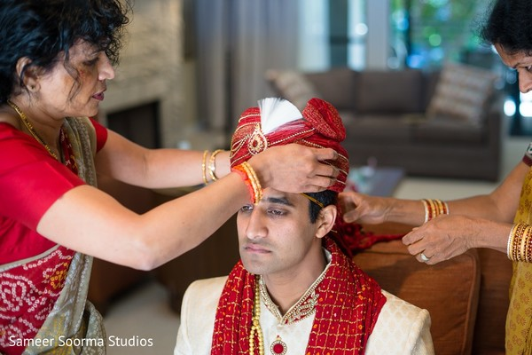 Groom Getting Ready in Phoenix, AZ Indian Fusion Wedding by Sameer Soorma Studios
