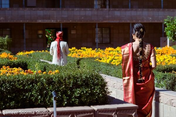First Look in Phoenix, AZ Indian Fusion Wedding by Sameer Soorma Studios