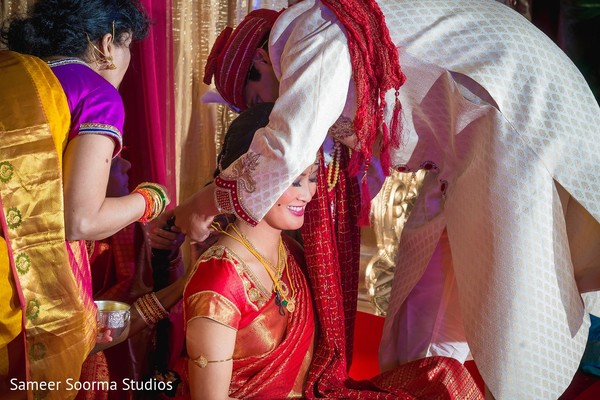 Ceremony in Phoenix, AZ Indian Fusion Wedding by Sameer Soorma Studios