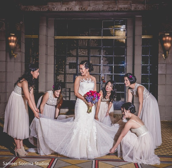 Bridal Fashion & Bridesmaids in Phoenix, AZ Indian Fusion Wedding by Sameer Soorma Studios