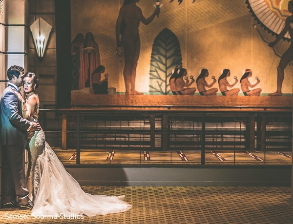 Reception Portrait in Phoenix, AZ Indian Fusion Wedding by Sameer Soorma Studios