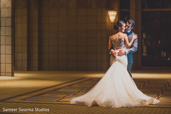 Reception Portrait in Phoenix, AZ Indian Fusion Wedding by Sameer ...