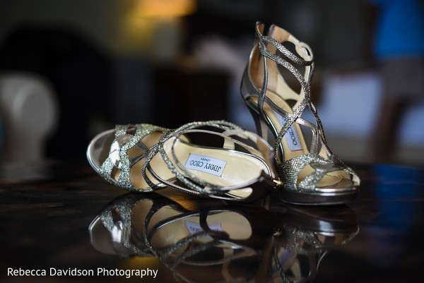 Shoes in Cayman Islands Indian Destination Wedding by Rebecca Davidson Photography