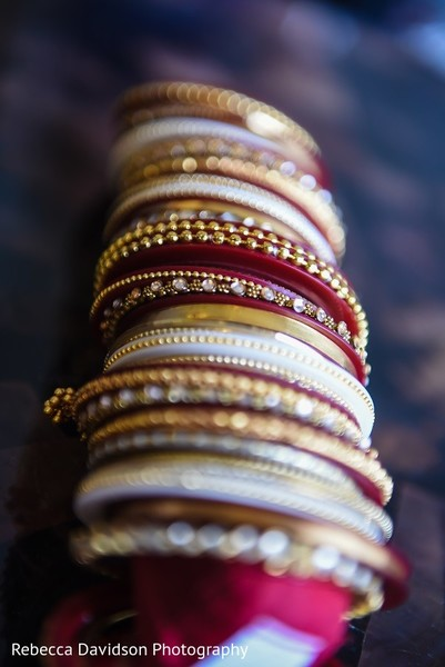Bridal Jewelry in Cayman Islands Indian Destination Wedding by Rebecca Davidson Photography