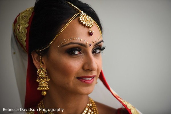 Bridal Portrait in Cayman Islands Indian Destination Wedding by Rebecca Davidson Photography