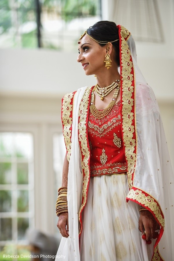 Bridal Fashion in Cayman Islands Indian Destination Wedding by Rebecca Davidson Photography
