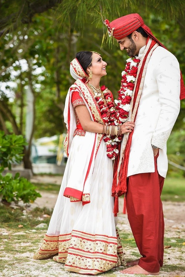 Wedding Portrait in Cayman Islands Indian Destination Wedding by Rebecca Davidson Photography
