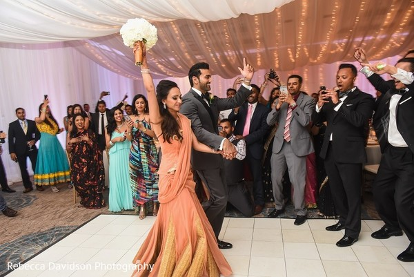Reception in Cayman Islands Indian Destination Wedding by Rebecca Davidson Photography