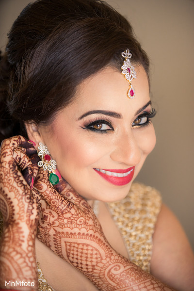 Indian bridal makeup in Maui, HI Destination Indian Wedding by MnMfoto Wedding Photography