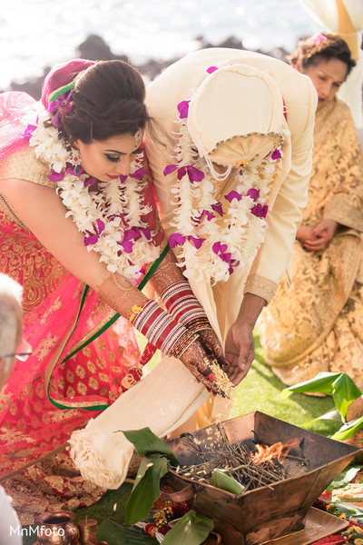Indian wedding ceremony in Maui, HI Destination Indian Wedding by MnMfoto Wedding Photography