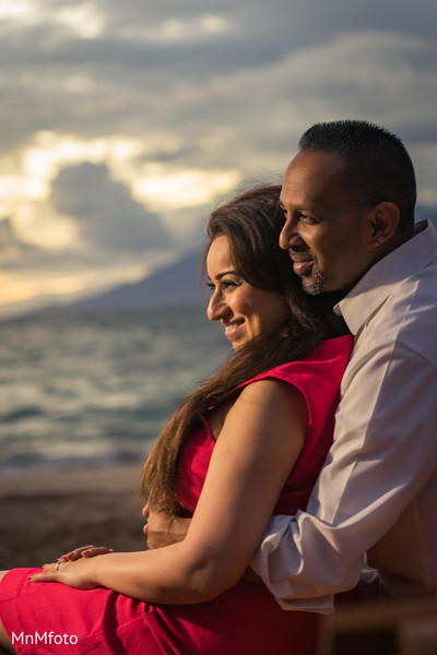 Indian bride and groom photography in Maui, HI Destination Indian Wedding by MnMfoto Wedding Photography