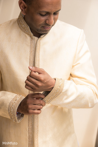 Indian groom sherwani in Maui, HI Destination Indian Wedding by MnMfoto Wedding Photography