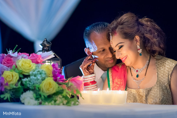Indian wedding reception in Maui, HI Destination Indian Wedding by MnMfoto Wedding Photography