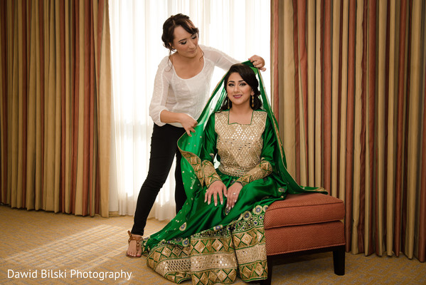 Indian bride getting ready in San Jose, CA Muslim Wedding by Dawid Bilski Photography