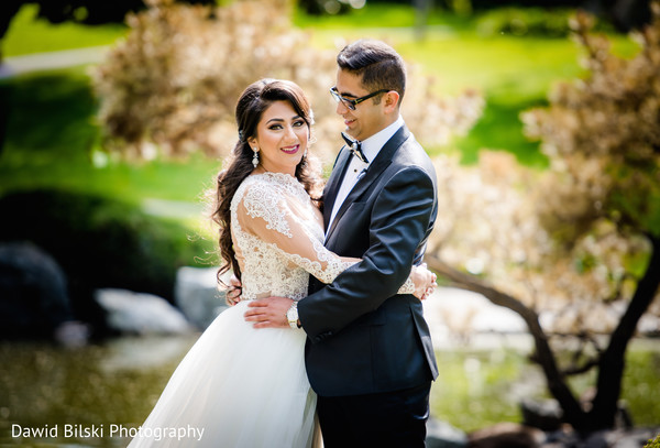 First look portraits in San Jose, CA Muslim Wedding by Dawid Bilski Photography