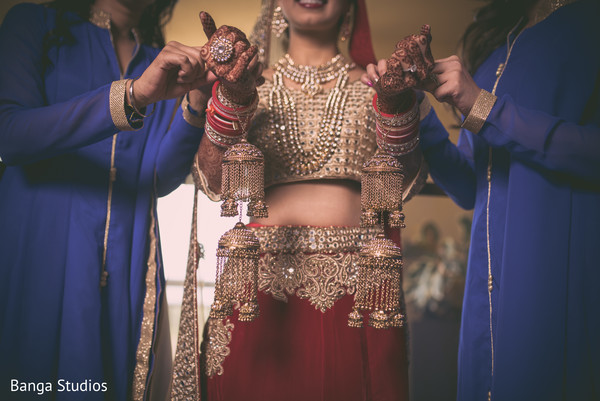 Bridal lengha in Orlando, FL South Asian Wedding by Banga Studios