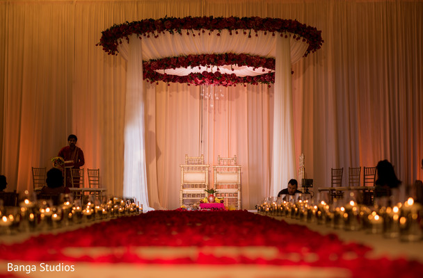 Mandap in Orlando, FL South Asian Wedding by Banga Studios