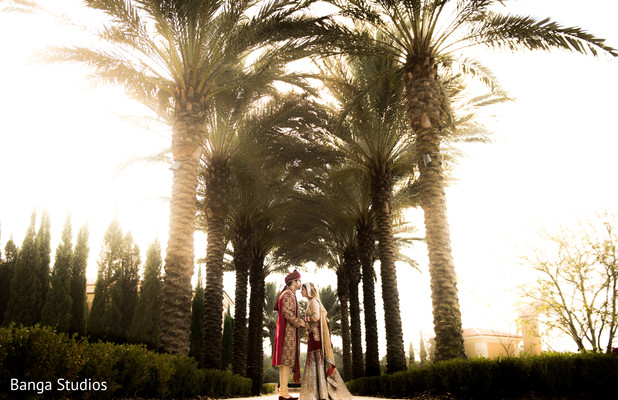First look in Orlando, FL South Asian Wedding by Banga Studios