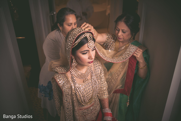 Getting ready in Orlando, FL South Asian Wedding by Banga Studios