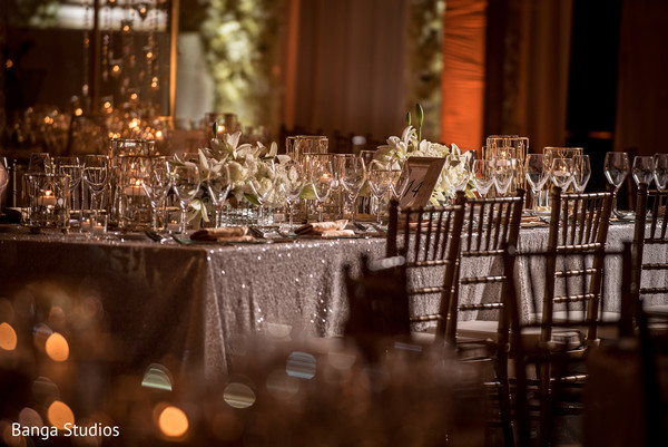 Reception floral and decor in Orlando, FL South Asian Wedding by Banga Studios