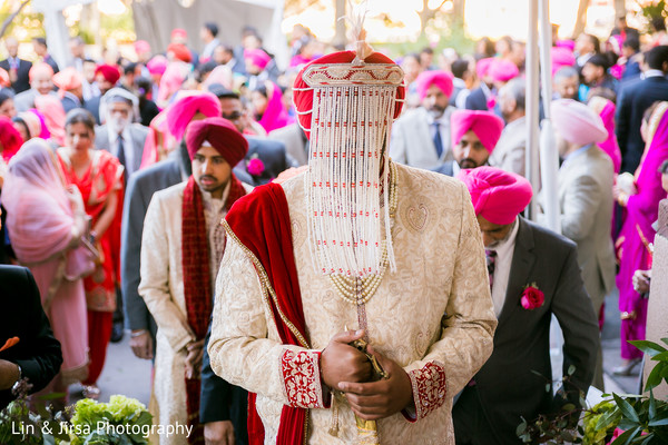 Baraat in Glendale, CA Sikh Wedding by Lin & Jirsa Photography
