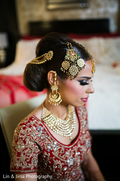 Indian bridal jewelry in Glendale, CA Sikh Wedding by Lin & Jirsa Photography