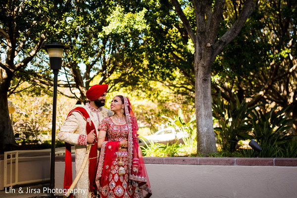 First look portraits in Glendale, CA Sikh Wedding by Lin & Jirsa Photography