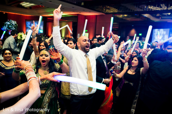 Indian wedding reception in Glendale, CA Sikh Wedding by Lin & Jirsa Photography
