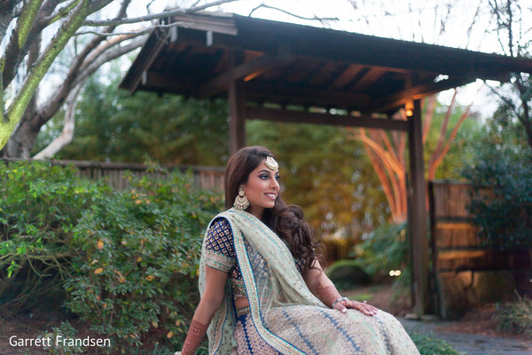 Sangeet Portrait in Atlanta, GA Indian Wedding by Garrett Frandsen