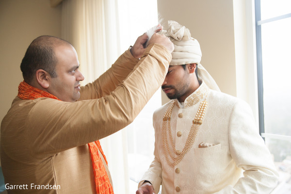Groom Getting Ready in Atlanta, GA Indian Wedding by Garrett Frandsen
