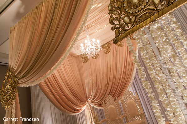 Mandap Details in Atlanta, GA Indian Wedding by Garrett Frandsen