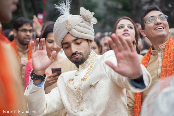 Baraat in Atlanta, GA Indian Wedding by Garrett Frandsen