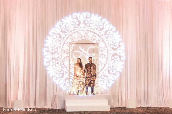 reception,indian wedding reception,custom lighting,lighting design,lighting,lighting for indian wedding,lighting for wedding,lighting elements,mood lighting