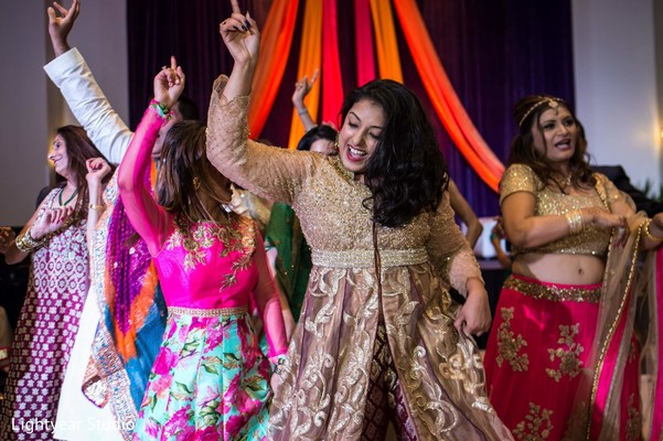 Sangeet in Playa del Carmen, Mexico Pakistani Desitination Wedding by Lightyear Studio