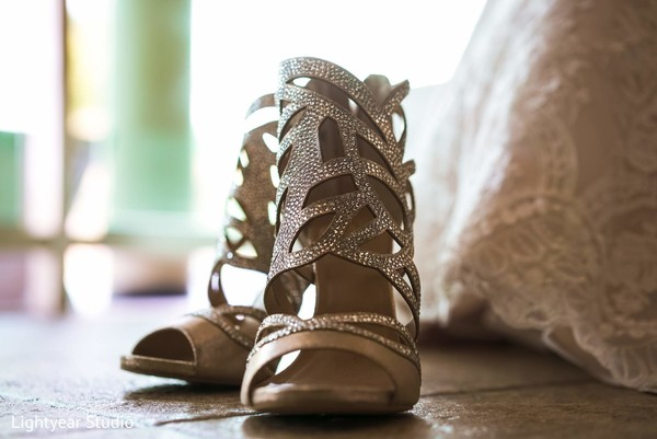 Shoes in Playa del Carmen, Mexico Pakistani Desitination Wedding by Lightyear Studio
