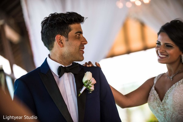 First Look in Playa del Carmen, Mexico Pakistani Desitination Wedding by Lightyear Studio