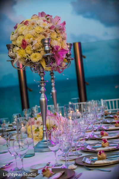 Floral & Decor in Playa del Carmen, Mexico Pakistani Desitination Wedding by Lightyear Studio