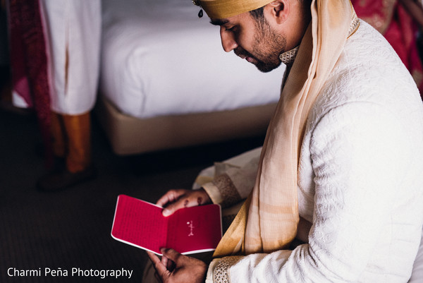 Indian groom getting ready in Jersey City, NJ Indian Wedding by Charmi Pena Photography
