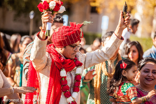 Baraat in Westlake Village, CA Indian Wedding by Aaroneye Photo & Video