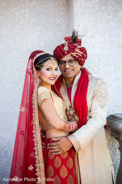 First look portraits in Westlake Village, CA Indian Wedding by Aaroneye Photo & Video