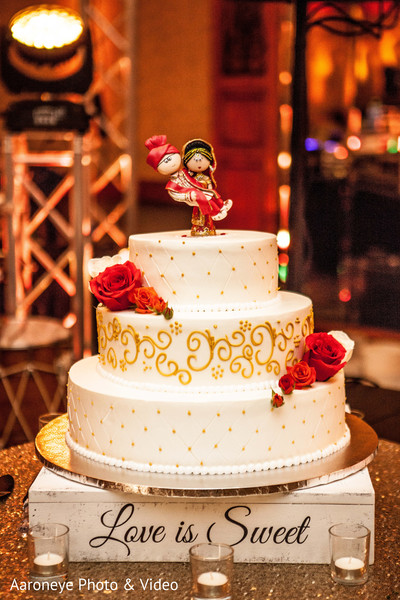 Indian wedding cake in Westlake Village, CA Indian Wedding by Aaroneye Photo & Video