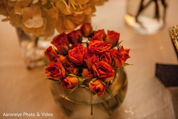 Reception floral and decor in Westlake Village, CA Indian Wedding by Aaroneye Photo & Video