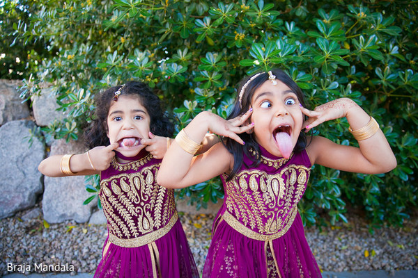Flower Girls in Scottsdale, AZ Indian Wedding by Braja Mandala Photography