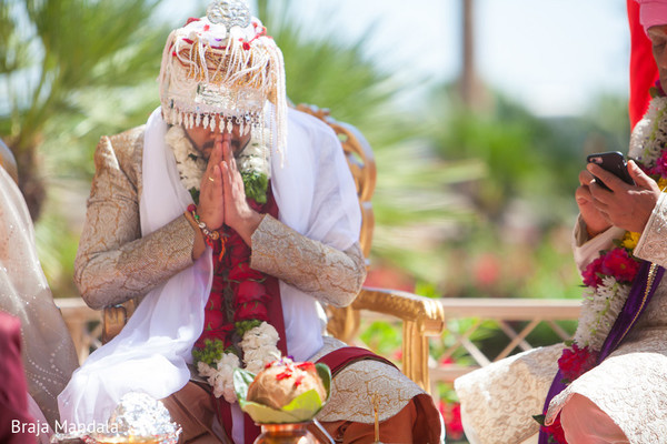 Ceremony in Scottsdale, AZ Indian Wedding by Braja Mandala Photography