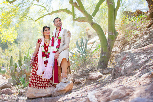Wedding Portrait in Scottsdale, AZ Indian Wedding by Braja Mandala Photography