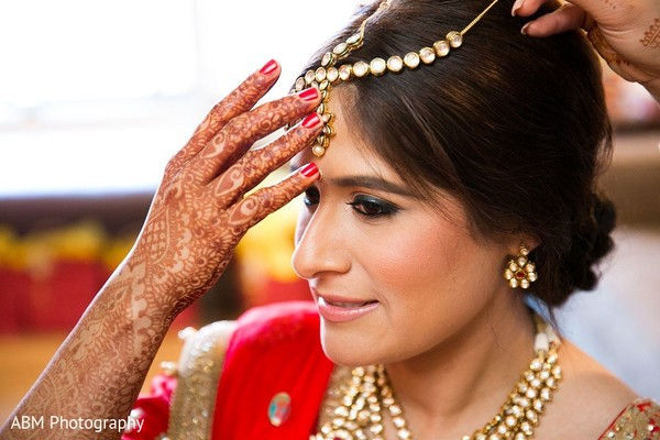 Getting Ready in La Jolla, CA Indian Fusion Wedding by ABM Wedding Photography