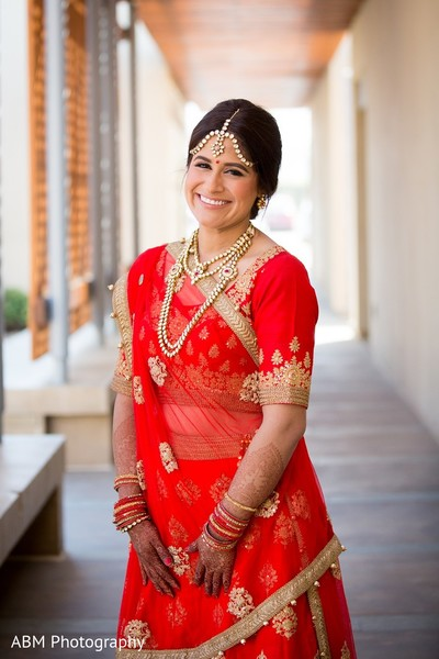 Bridal Portrait in La Jolla, CA Indian Fusion Wedding by ABM Wedding Photography