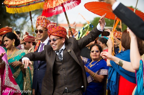 Baraat in La Jolla, CA Indian Fusion Wedding by ABM Wedding Photography