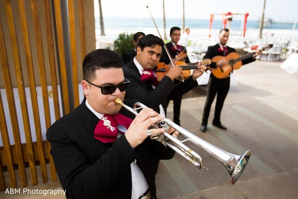 Ceremony in La Jolla, CA Indian Fusion Wedding by ABM Wedding Photography