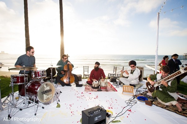 Live Band in La Jolla, CA Indian Fusion Wedding by ABM Wedding Photography